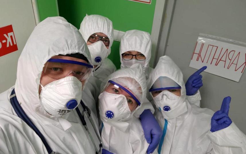 Сотрудники 6-го инфекционного отделения Городской Покровской больницы. Фото пресс-служба больницы