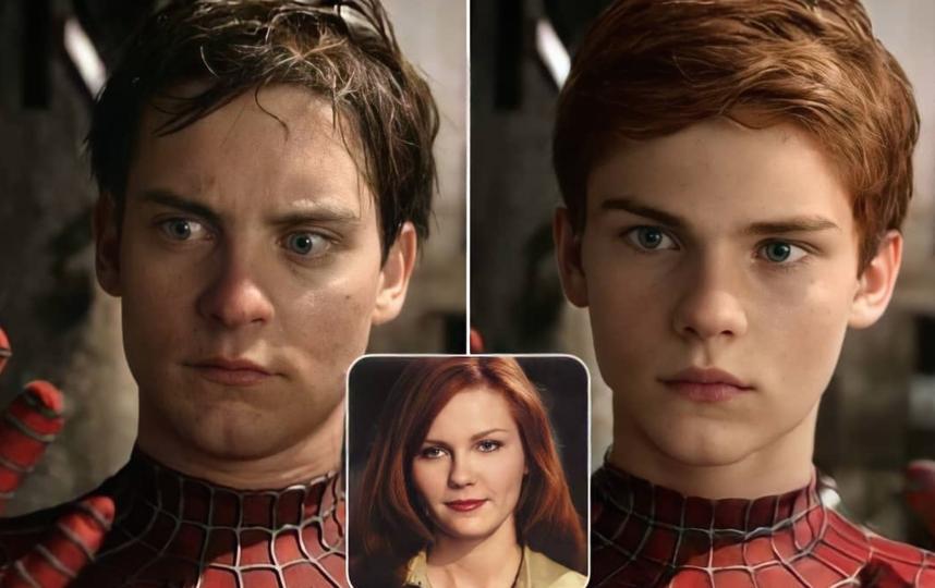 """Человек-паук"". Сын Питера Паркера (Тоби Магуайр) и Мэри Джейн Уотсон (Кирстен Данст)."