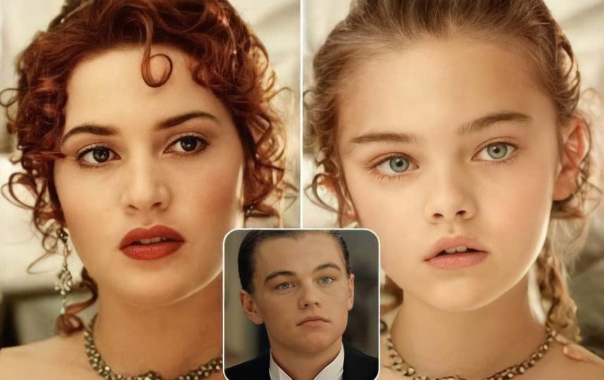 "Дочка Роуз (Кейт Уинслет) и Джека (Леонардо Ди Каприо) из ""Титаника""."