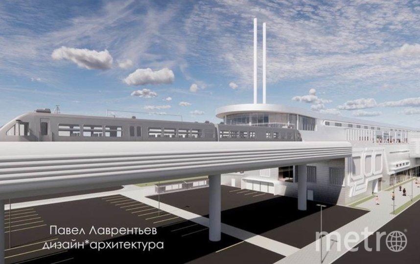 В соцсетях появился проект надземного метро для пригородов Петербурга. Фото vk.com/lenoblmetro.