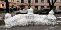 Петербуржцы слепили из снега Казанский собор в миниатюре. Где он находится