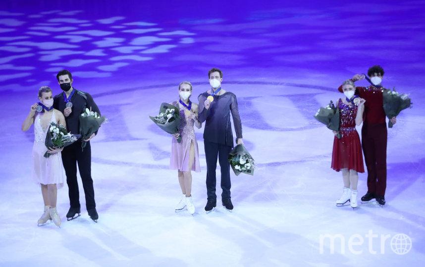 В танцах на льду первое место заняли Виктория Синицина и Никита Кацалапов. Фото Getty