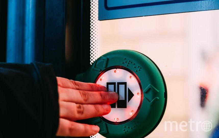 """Все новые троллейбусы и трамваи оборудованы системой адресного открывания дверей. Фото СПб ГУП """"Горэлектротранс""""."""