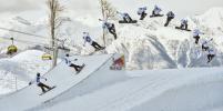 Сноубордисты и лыжники зажгли в горах