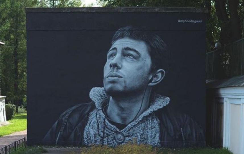 Портрет Сергея Бодрова на трансформаторной будке. Фото Скриншот Instagram: @myhoodisgood