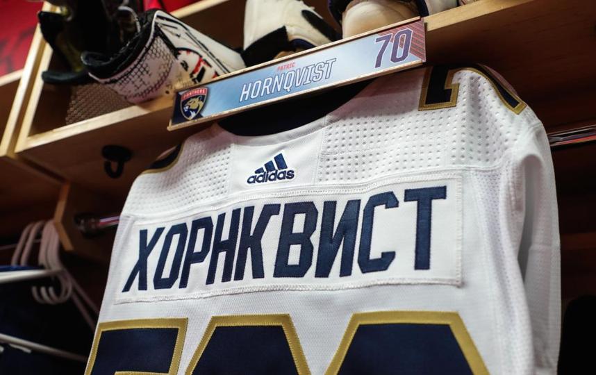 Бобровскому понравилась идея с фамилиями на кириллице. Фото Instagram: @flapanthers
