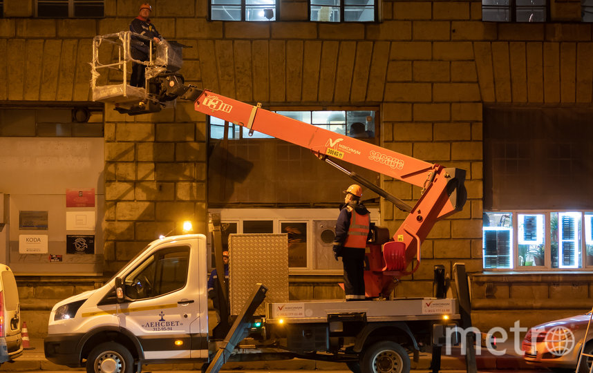 """Проекция будет действовать в режиме вечерней подсветки. Фото Святослав Акимов., """"Metro"""""""