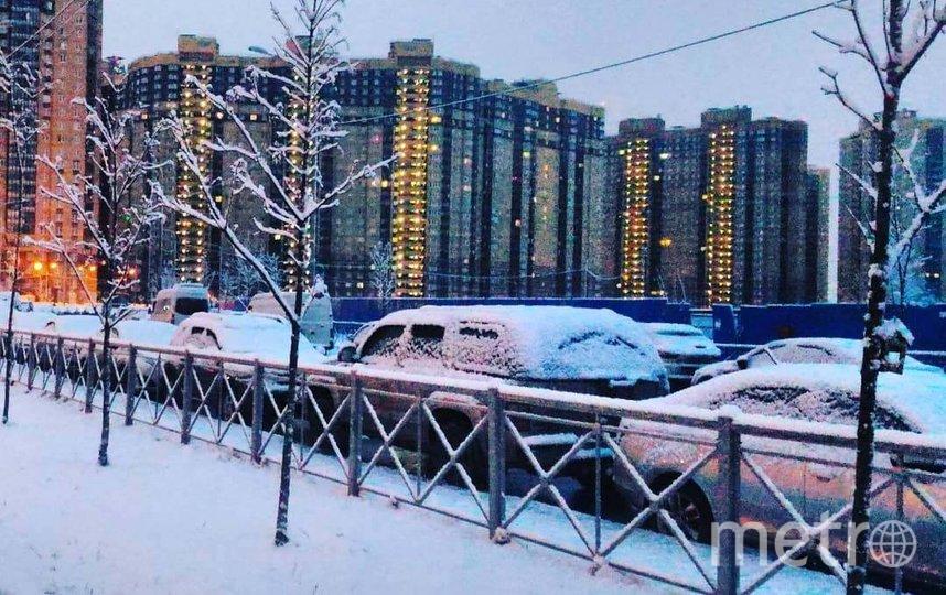 В Петербурге выпадет снег. Фото instagram/lina_7729.