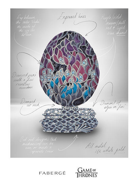 Fabergé x Game of Thrones. Фото https://www.faberge.com/news/faberge-x-game-of-thrones-380