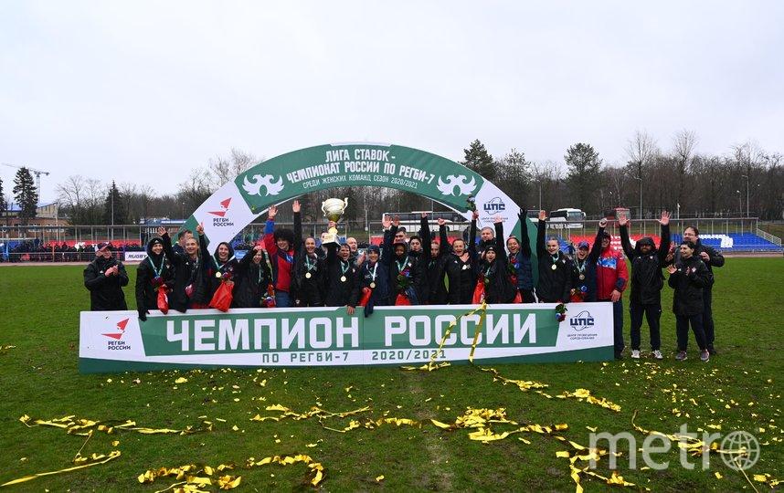 Спортсменки московской женской команды РК ЦСКА впервые в истории стала чемпионом России по регби-7 среди женщин. Фото пресс-служба Москомспорта