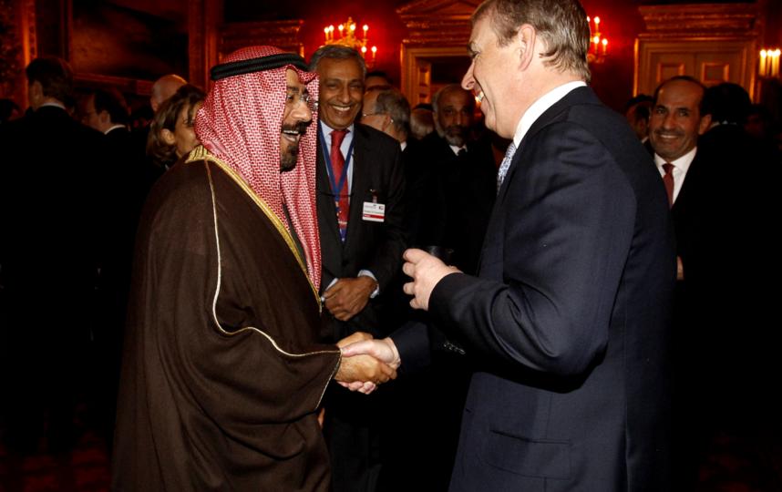 Принц Эндрю на приёме королевской семьи Саудовской Аравии. Фото Getty