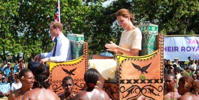 Принц Уильям и Кейт Миддлтон в Тувале.