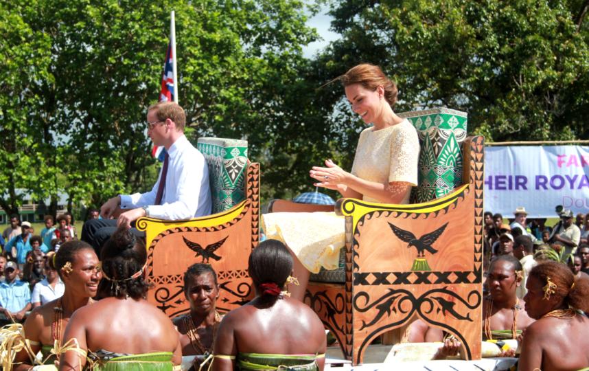 Принц Уильям и Кейт Миддлтон в Тувале. Фото Getty