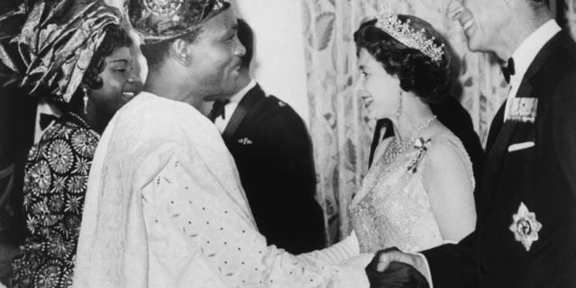Принц Филипп и президент Нигерии.