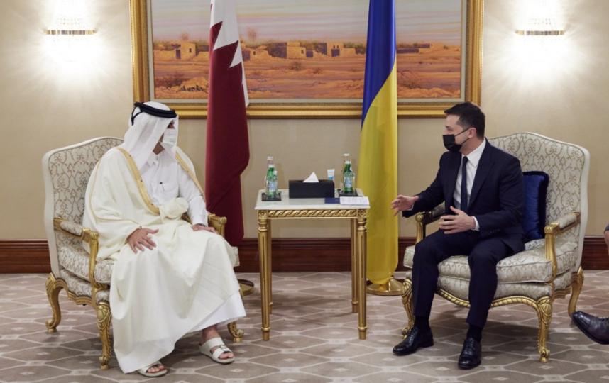 Владимир Зеленский посетил Катар. Фото пресс-служба администрации президента Украины