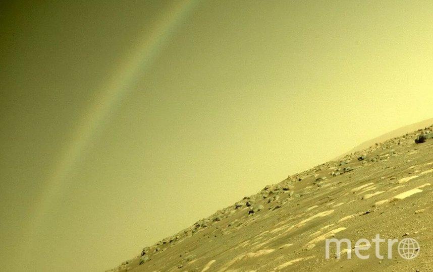 "NASA объяснило ""радугу"" на Марсе. Фото NASA's Perseverance Mars Rover/Twitter."