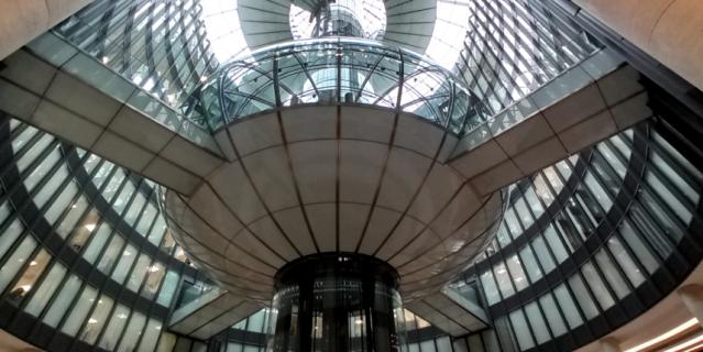 Так выглядит купол изнутри.