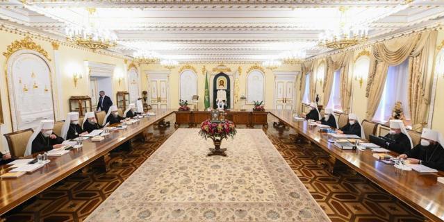 Заседание Священного синода Русской православной церкви.