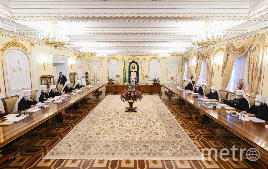 Заседание Священного синода Русской православной церкви. Фото https://foto.patriarchia.ru/