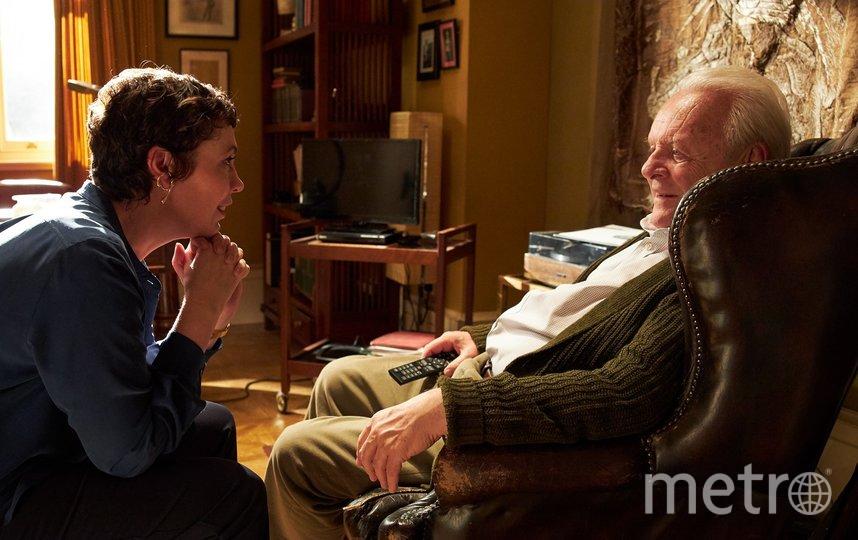 "Оливия Уильямс и Энтони Хопкинс в ролях дочери и отца. Фото кадр из фильма ""Отец"""