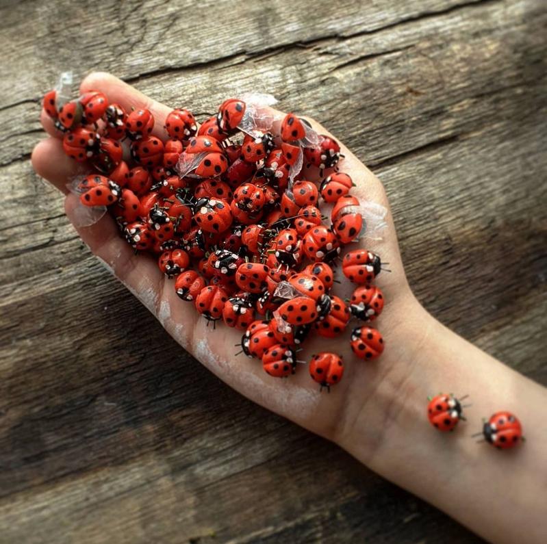 На создание корзины клубники или ведра смородины у мастера уходит примерно месяц работы. Фото instagram.com@flowers_by_natalya
