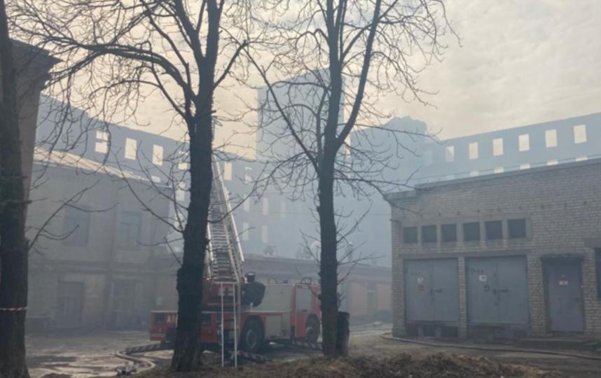 Спасатели планируют сегодня окончательно потушить пожар. Фото kgiop.gov.spb.ru.