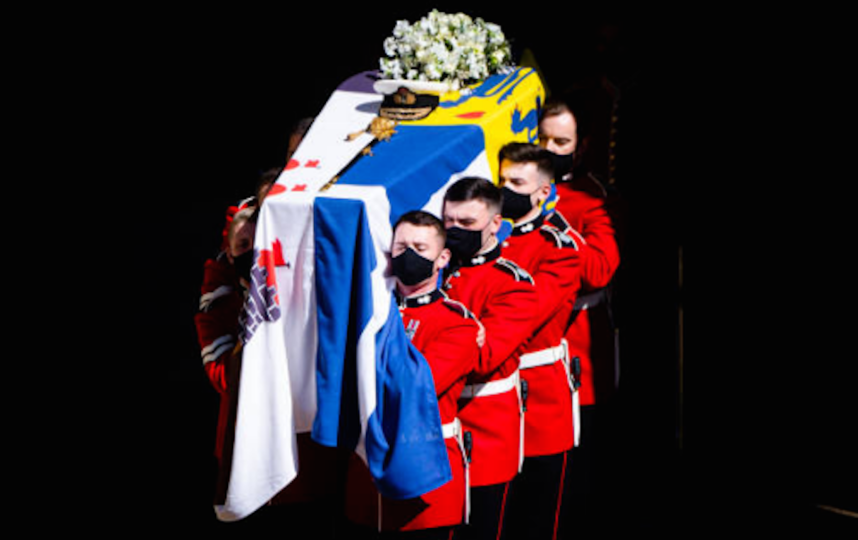 Траурная церемония состоялась 17 апреля 2021 года. Фото Getty