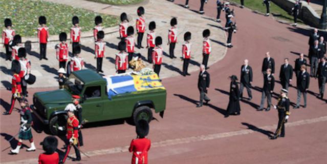 Похороны принца Филиппа состоялись 17 апреля 2021 года.