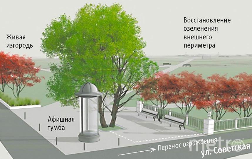 Входная зона к Главпочтамту станет широкой и красивой. Мусорные баки отсюда будут убраны. Фото пресс-центр Мэрии Новосибирска