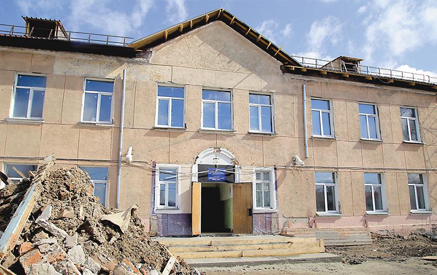 Капитальный ремонт в школе. Фото пресс-центр Мэрии Новосибирска