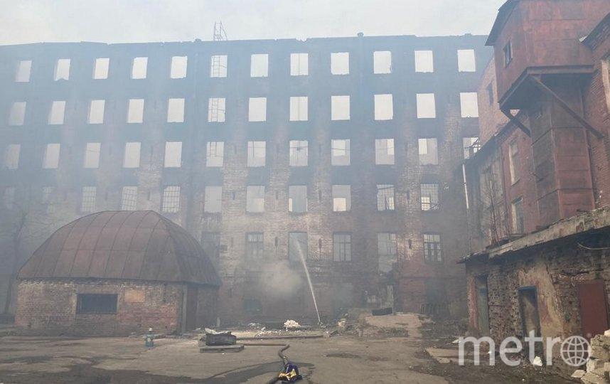 КГИОП через суд потребовал восстановить сгоревшее здание «Невской мануфактуры». Фото kgiop.gov.spb.ru.
