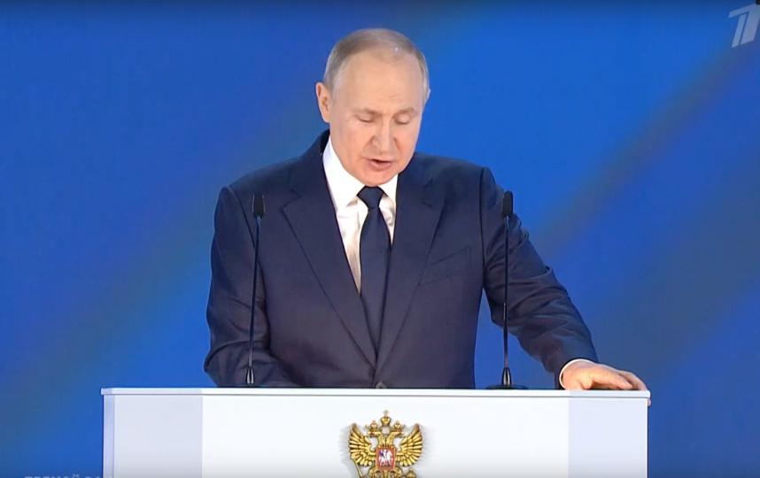 Владимир Путин, 21 апреля 2021 года. Фото Скриншот: https://vk.com/groups?z=video-25380626_456272400