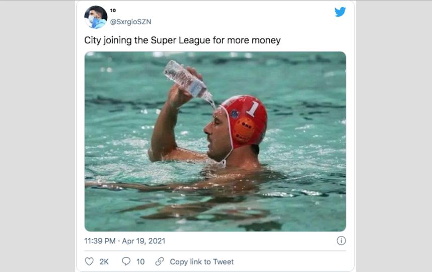 """""""МанСити"""" присоединяется к Суперлиге ради ещё больших денег"""". Клубу, которым владеют богатейшие арабские шейхи, мало нынешних доходов. Фото Twitter: @sxrgioszn"""