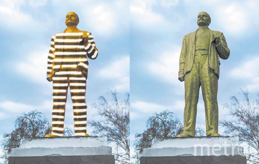 """Лагерный Ленин 30-х годов (слева) и Ленин времён Второй мировой (справа). Фото """"Metro"""""""