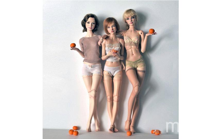 """Для сравнения: девочки 2015, 2017 и 2019 годов """"рождения"""". Фото instagram.com@natalialoseva_dolls"""