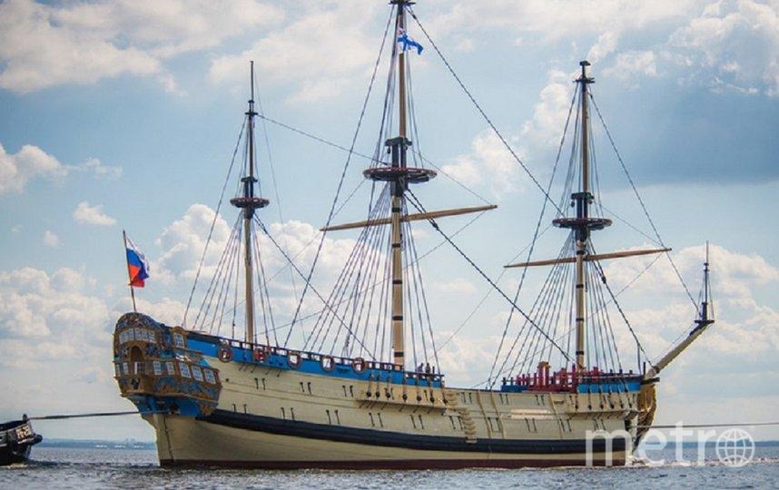 В акватории Петербурга могут появиться семь копий старинных боевых парусников. Фото Яхт-клуб Санкт-Петербурга.