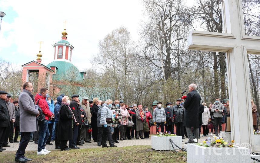 26 апреля в Москве в Воронцовском парке прошел траурный митинг, посвященный 35-летию аварии на Чернобыльской АЭС. Фото Ольга Макарова