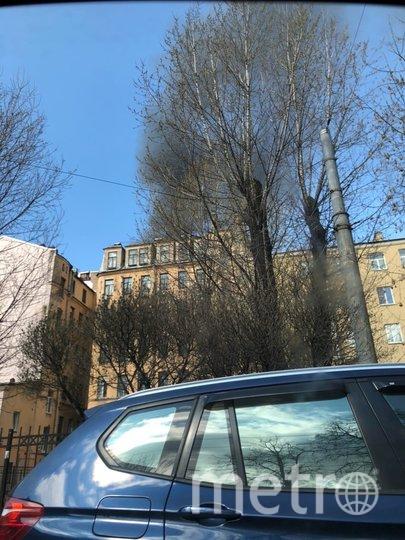 Пожар локализован. Фото vk.com/spb_today.