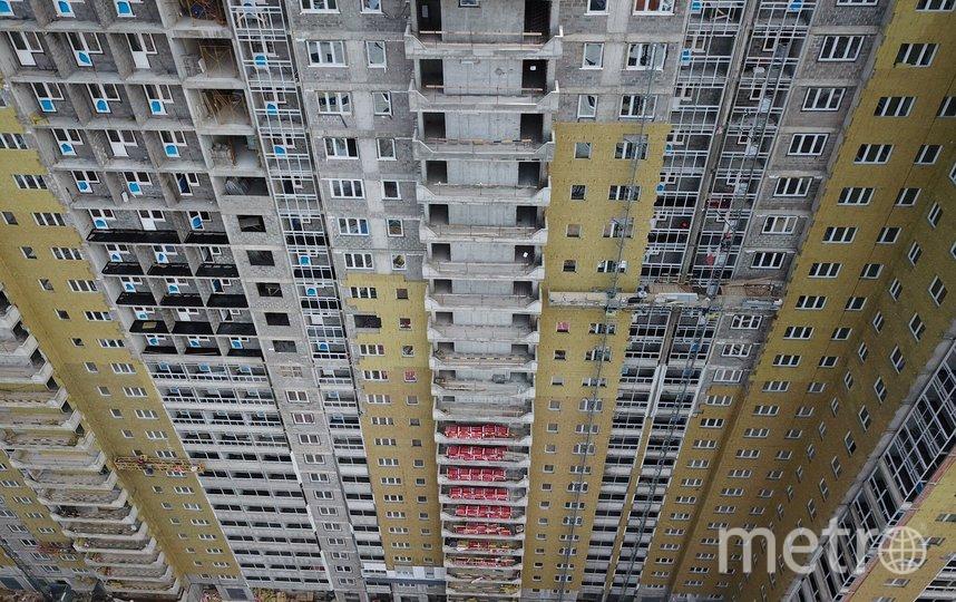 "Вид с квадрокоптера на один из домов, построенных по программе реновации (архивное фото). Фото АГН ""Москва"""