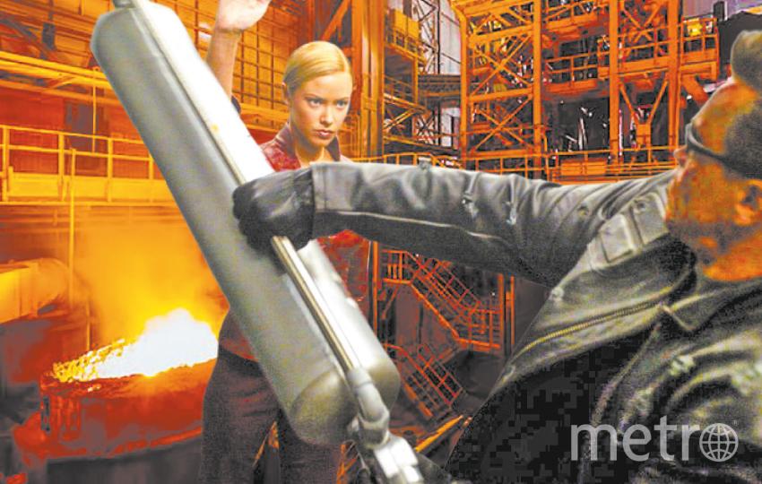 """Челябинск. Суровый Терминатор требует повышения зарплаты. Фото """"Metro"""""""