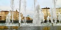 Сезон фонтанов начался в Петербурге