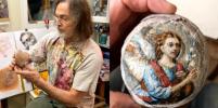 Перед Пасхой Никас Сафронов расписал яйца динозавра: как они выглядят