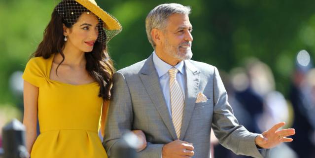 Джордж Клуни с супругой Амаль.