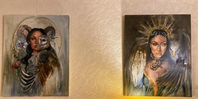 Картины художница пишет не для продажи.