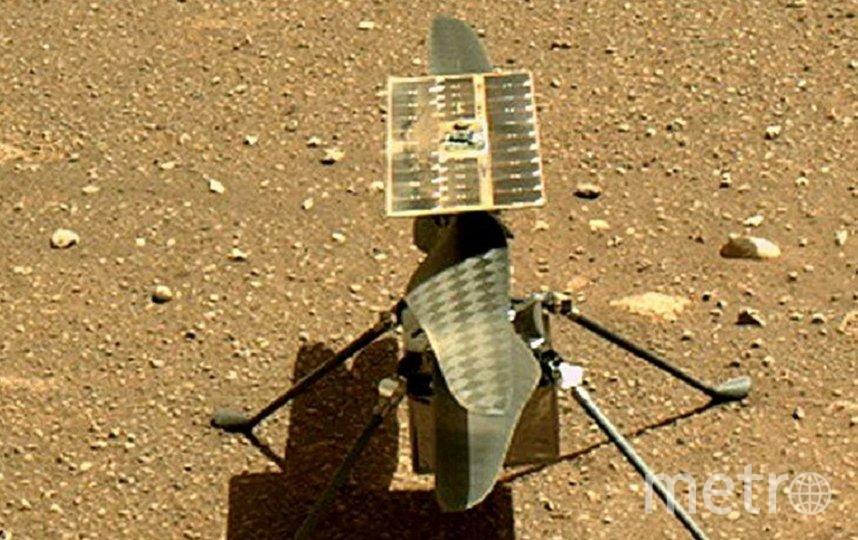 Марсианский вертолет Ingenuity впервые перелетел на новое место. Фото NASA / JPL / Caltech (PH).