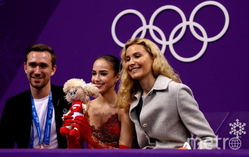 Даниил Глейхенгауз, Алина Загитова и Этери Тутберидзе. Фото Getty