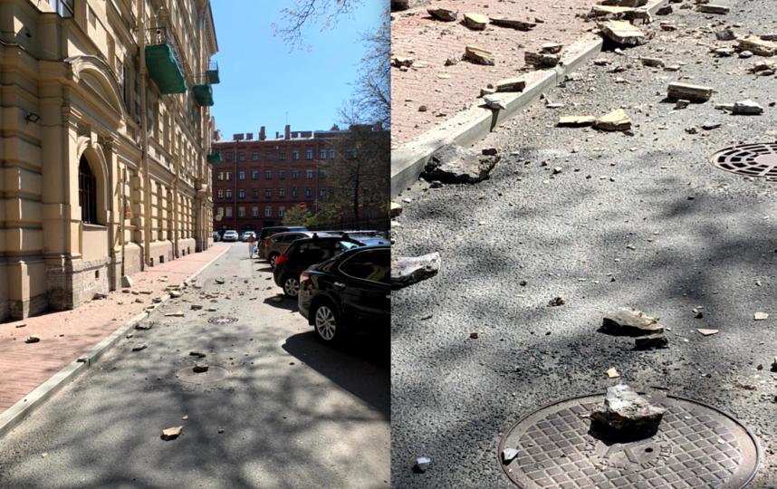 Очевидцы публикуют фотографии обрушения фасадов зданий. Фото https://vk.com/mytndvor