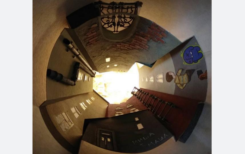 "Светильник ""Питерский двор-колодец"". Фото instagram@innachizhinna1791"