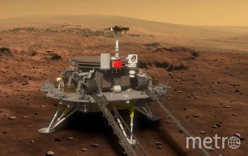 Первый китайский марсоход высадился на Красную планету. Фото CNSA.