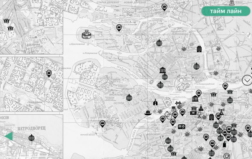 В 90-е было много культовых мест. Фото скриншот карты